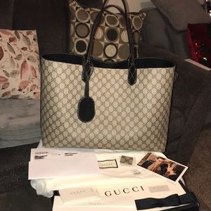 Gucci GG reversible leather large tote